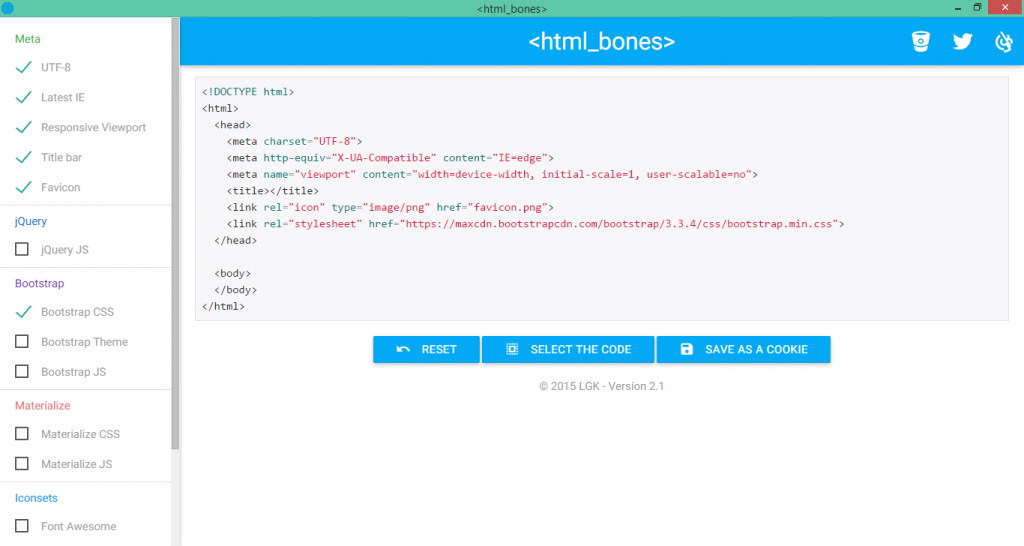html_bones Screenshot